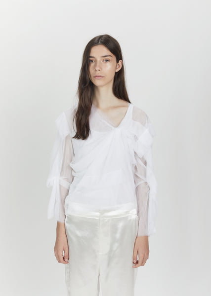 Twisted Draped Soft Tulle Top