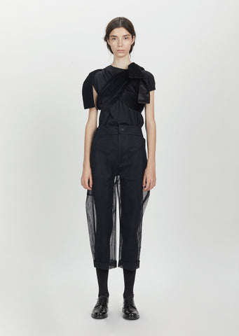 Shifted Seam Crop Trousers