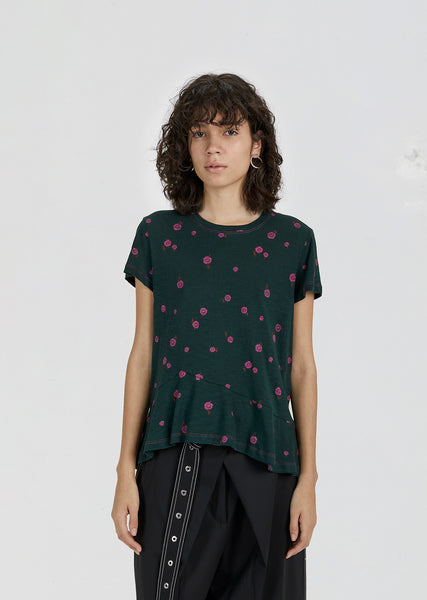 Printed Asymmetric T-Shirt