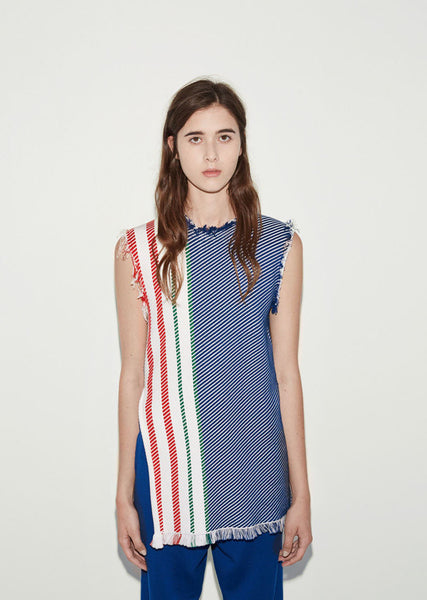 PORTS 1961 Raw Edge Sleeveless Tunic La Garconne