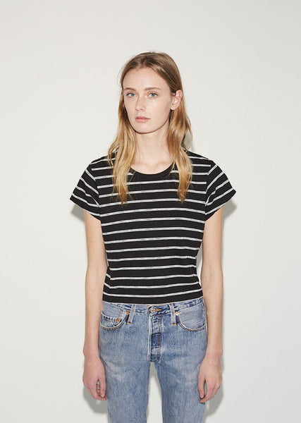 RE/DONE Originals Stripe Boxy Tee La Garconne