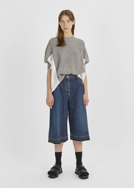 Wide Leg Denim Culottes