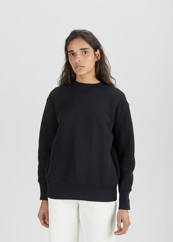 Sponge Lace-Up Back Sweatshirt
