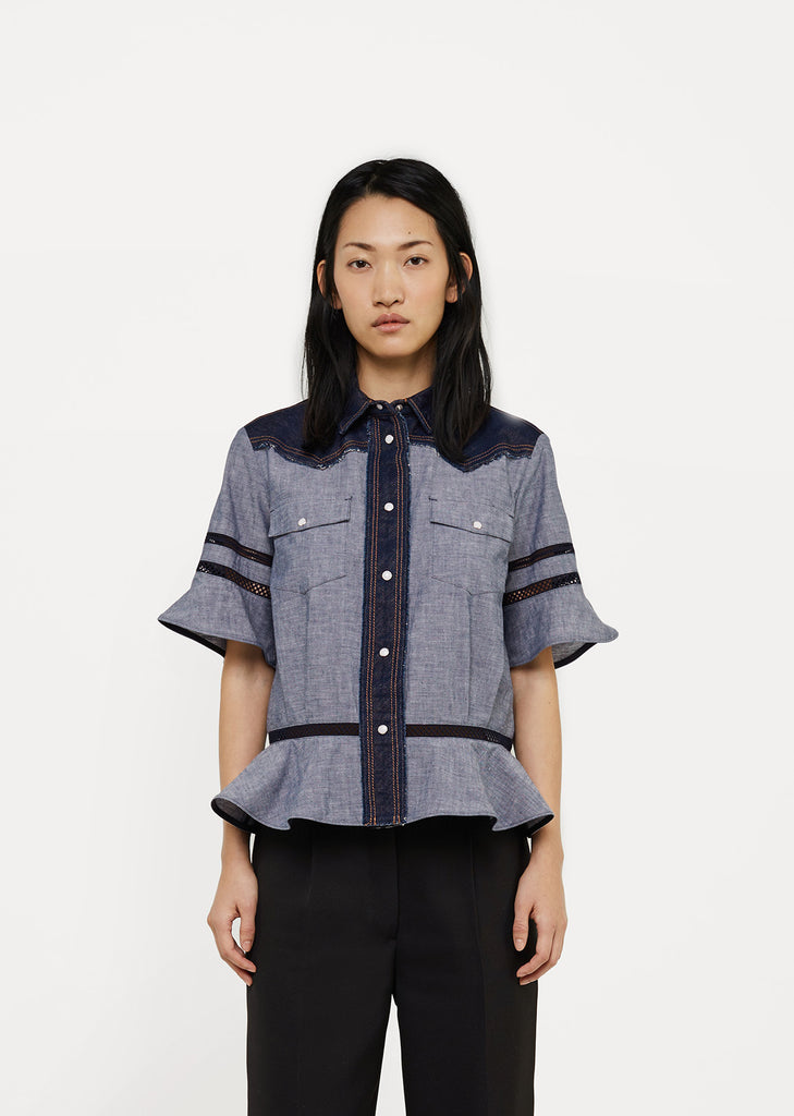Dungaree Peplum Shirt