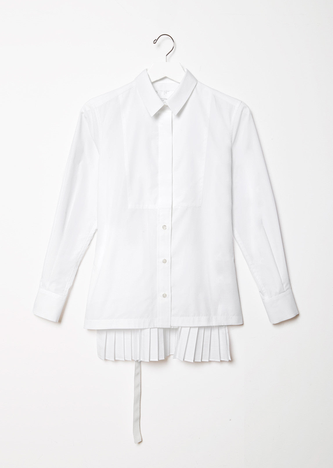 Cotton Shirt with Back Pleats