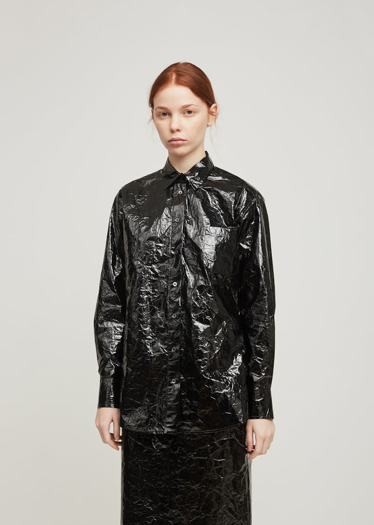 Sander Lacquered Button Down Shirt