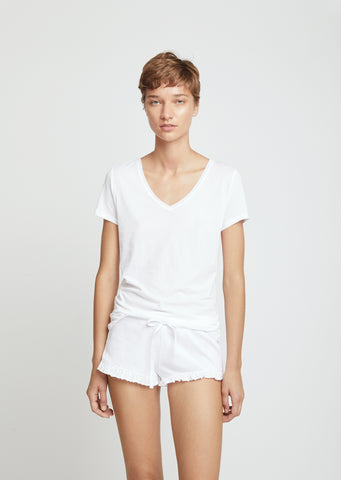 Pima Cotton V-Neck Easy Tee
