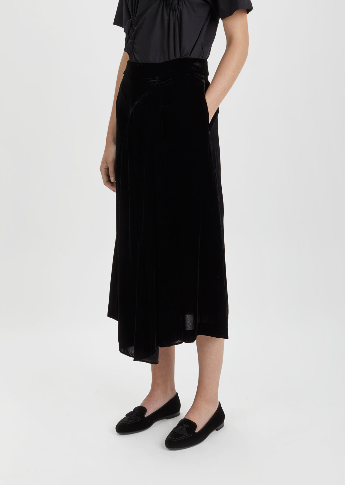 Three Panel Velvet Skirt