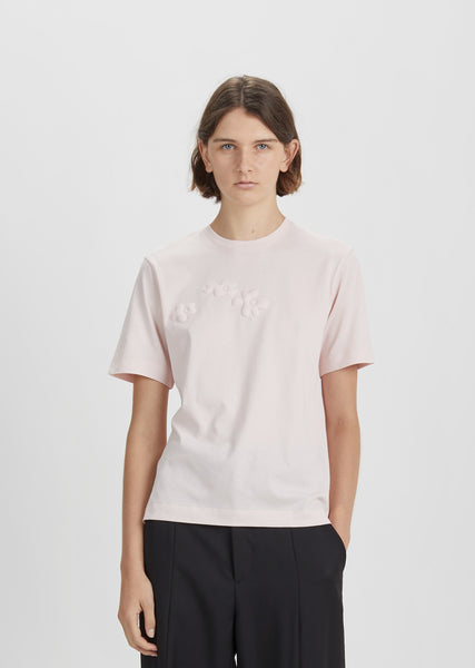 Padded Daisy Cotton T-Shirt