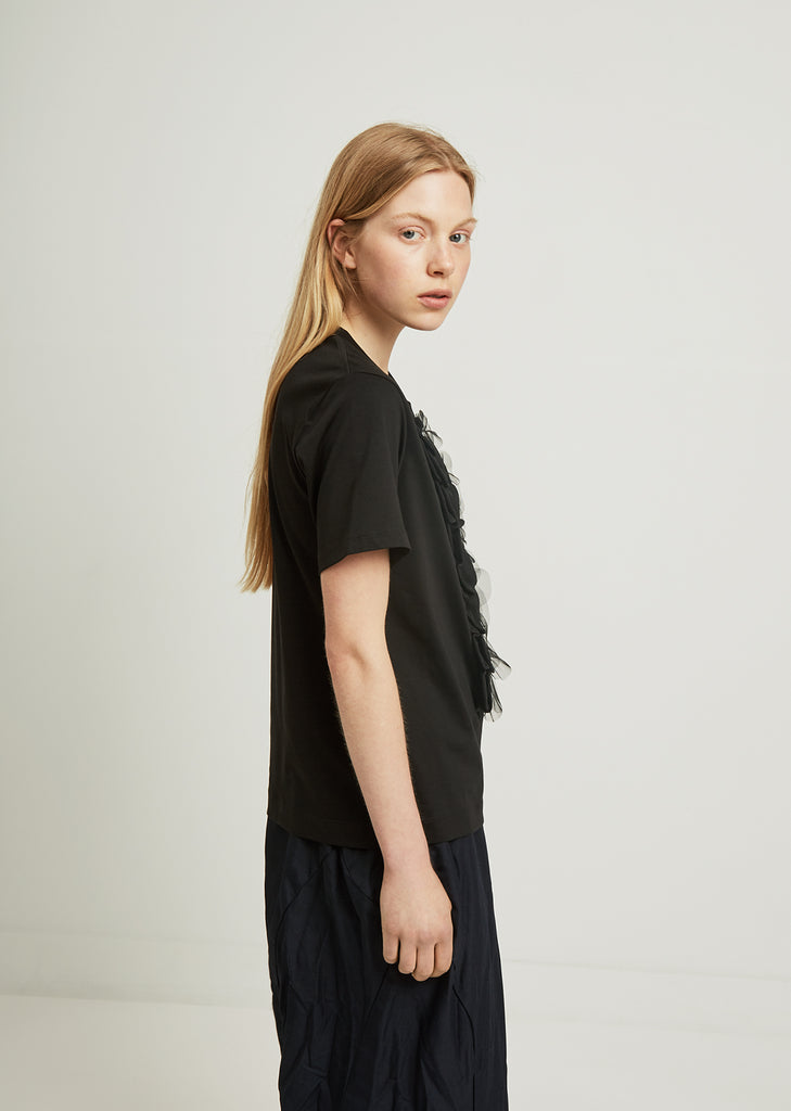 Beaded Scallop Frill Tee