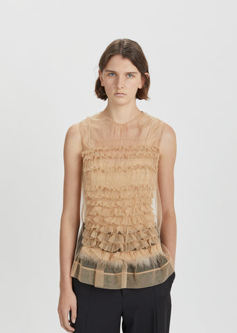 Tulle Frilled Top