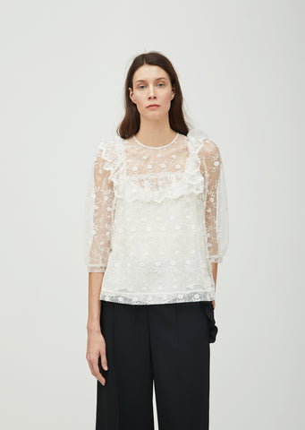 Frilled Lace Bib Top