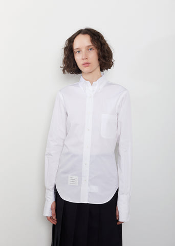 Egyptian Cotton Poplin Oversized Shirt