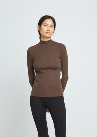Steve Mock Neck Wool Sweater
