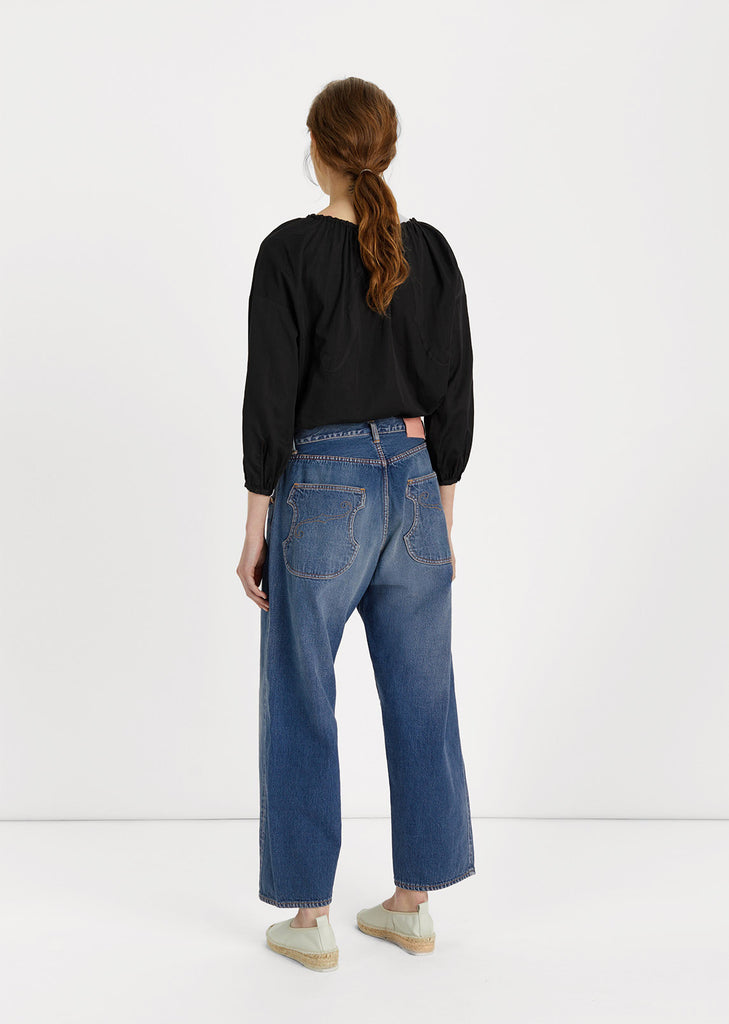 Relaxed Straight Cut Jeans