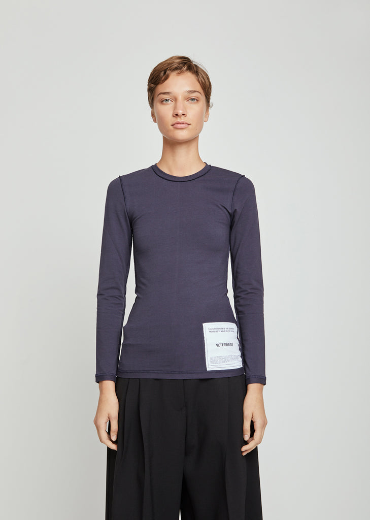 Fitted Inside-Out Long Sleeve Top