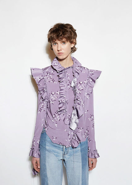 Vetements Flower Print Blouse La Garconne