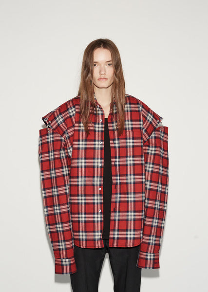 Vetements Flannel Shirt Jacket La Garconne