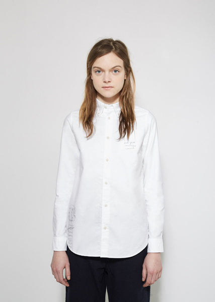 VISVIM Hand Paint Button Down Shirt La Garconne