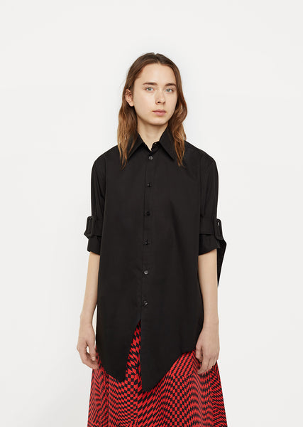 Belted Sleeve Shirt