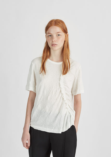 Ruffle Gathered Tee
