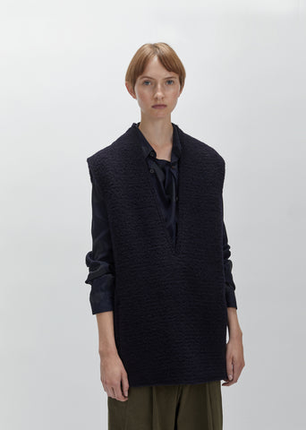 Mohair Loop Sleeveless Smock