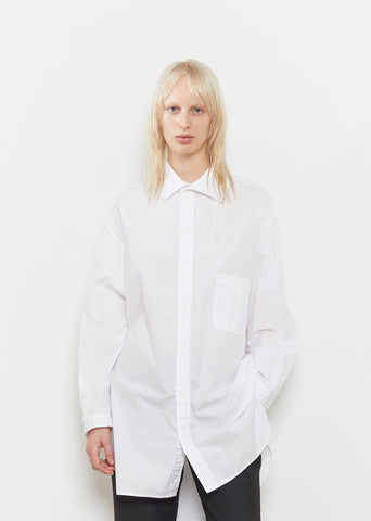 Cotton Open Collar Shirt