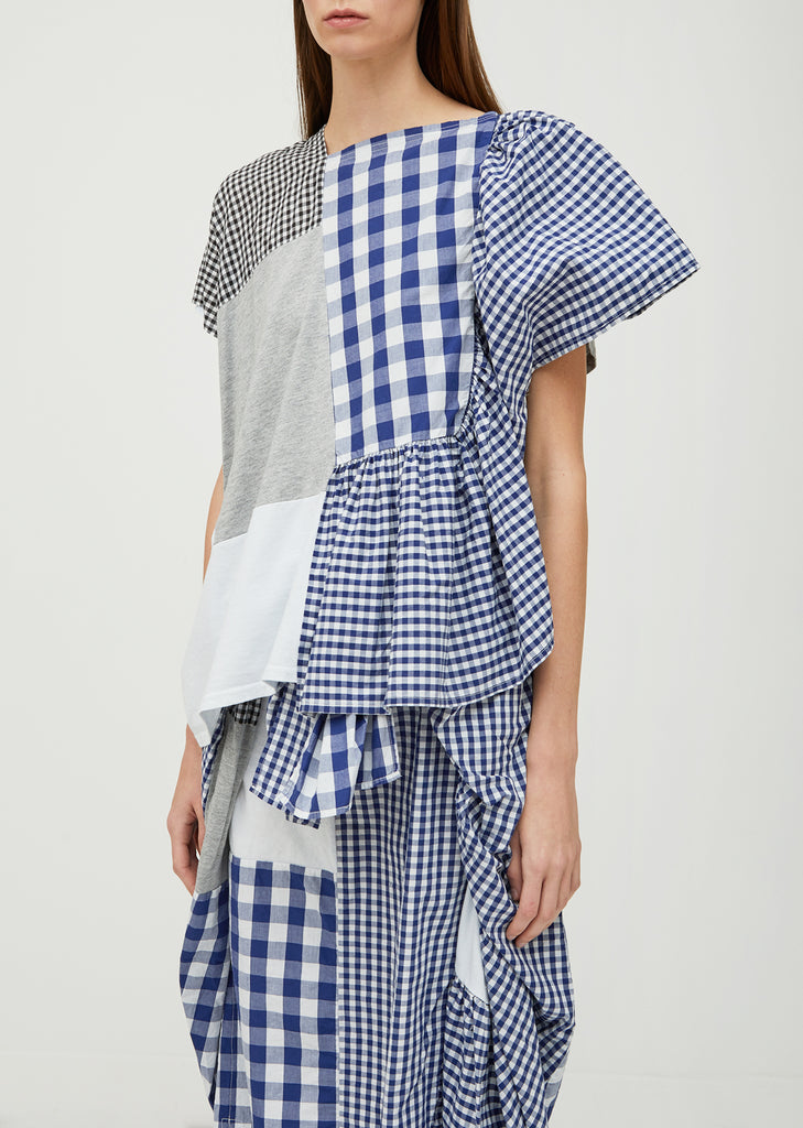Patchwork Gingham Top