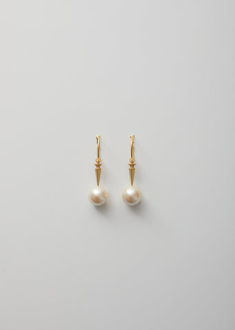 Pearl x Stud Earrings