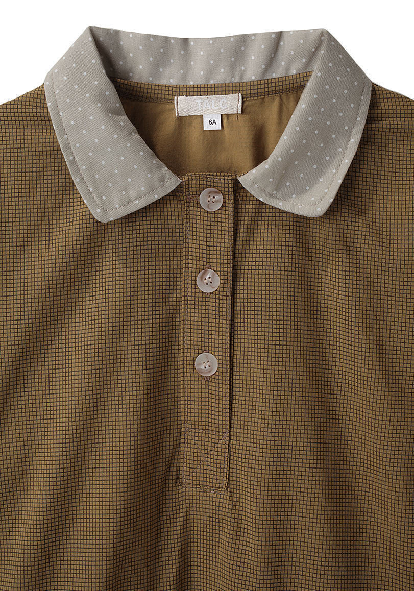 Checked Henley Shirt