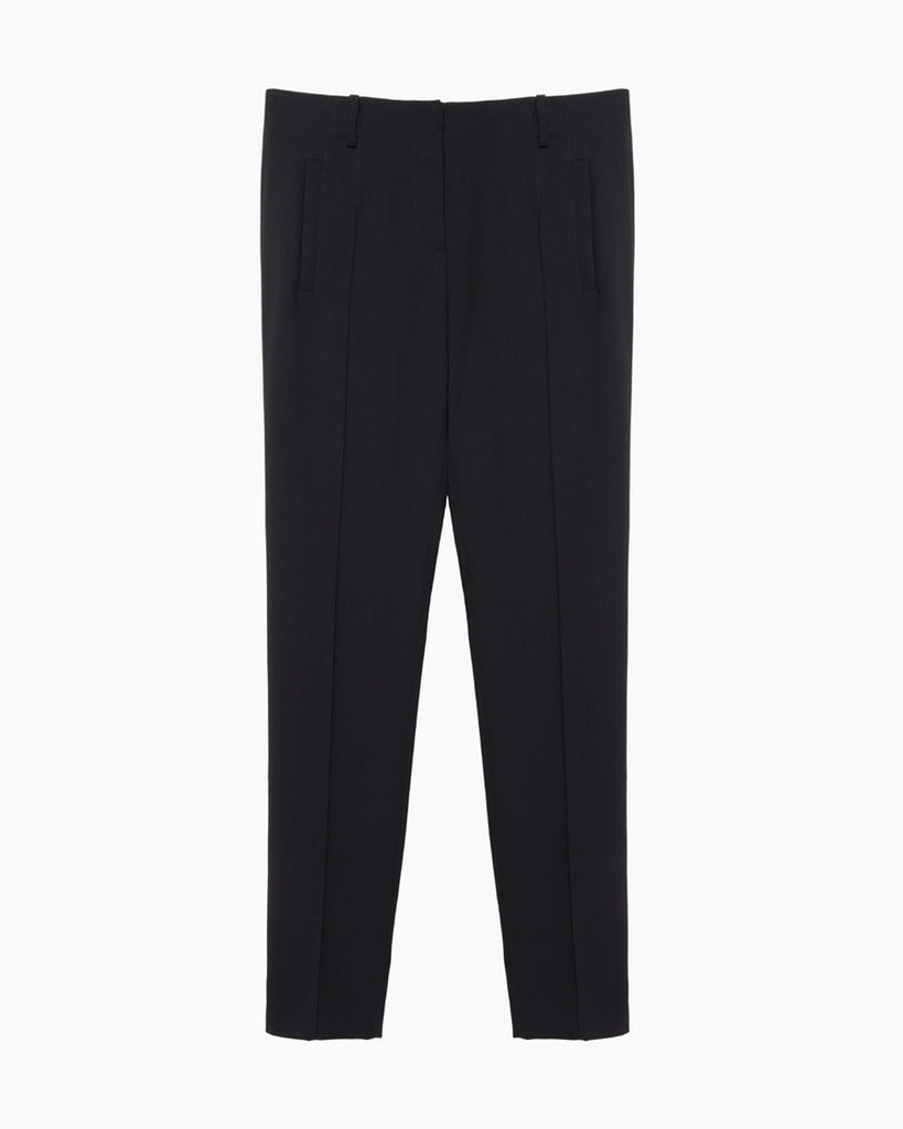 High-Waisted Poly Crepe Trouser