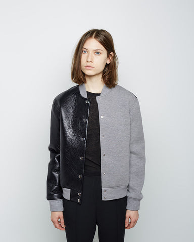 Leather Neoprene Varsity Jacket