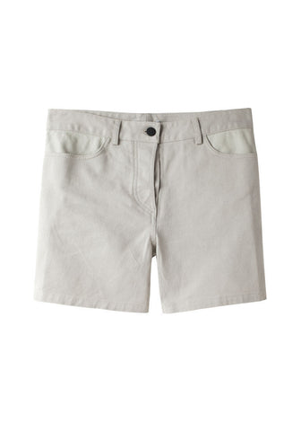 Leather Yoke Short