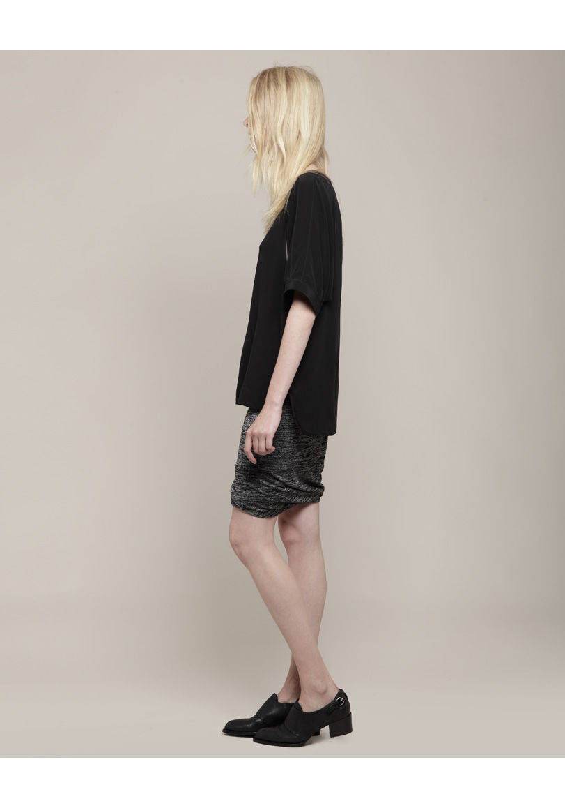 Marled Ruched Skirt