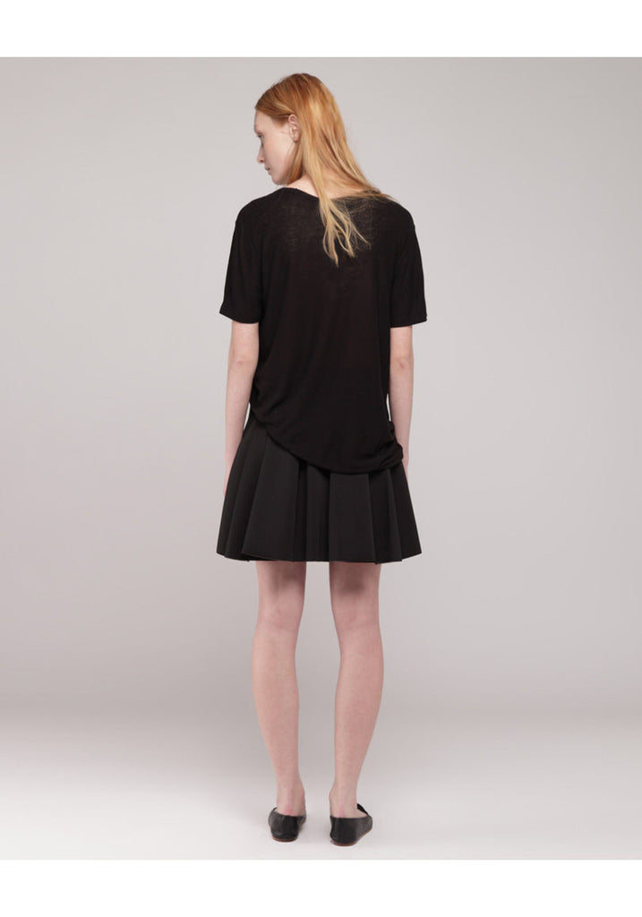 Neoprene Box Pleat Skirt