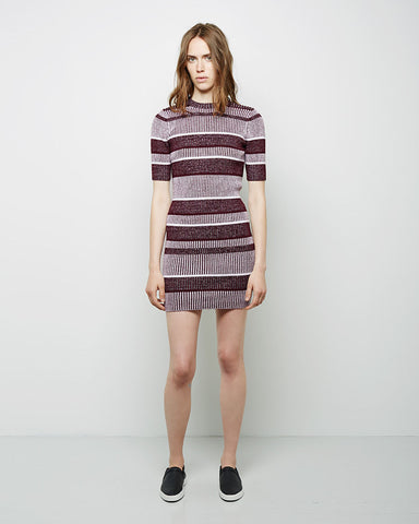 Short Sleeve Rib Knit Dress