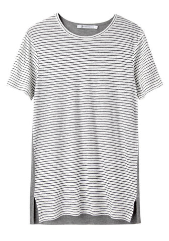 Solid Back Striped Tee