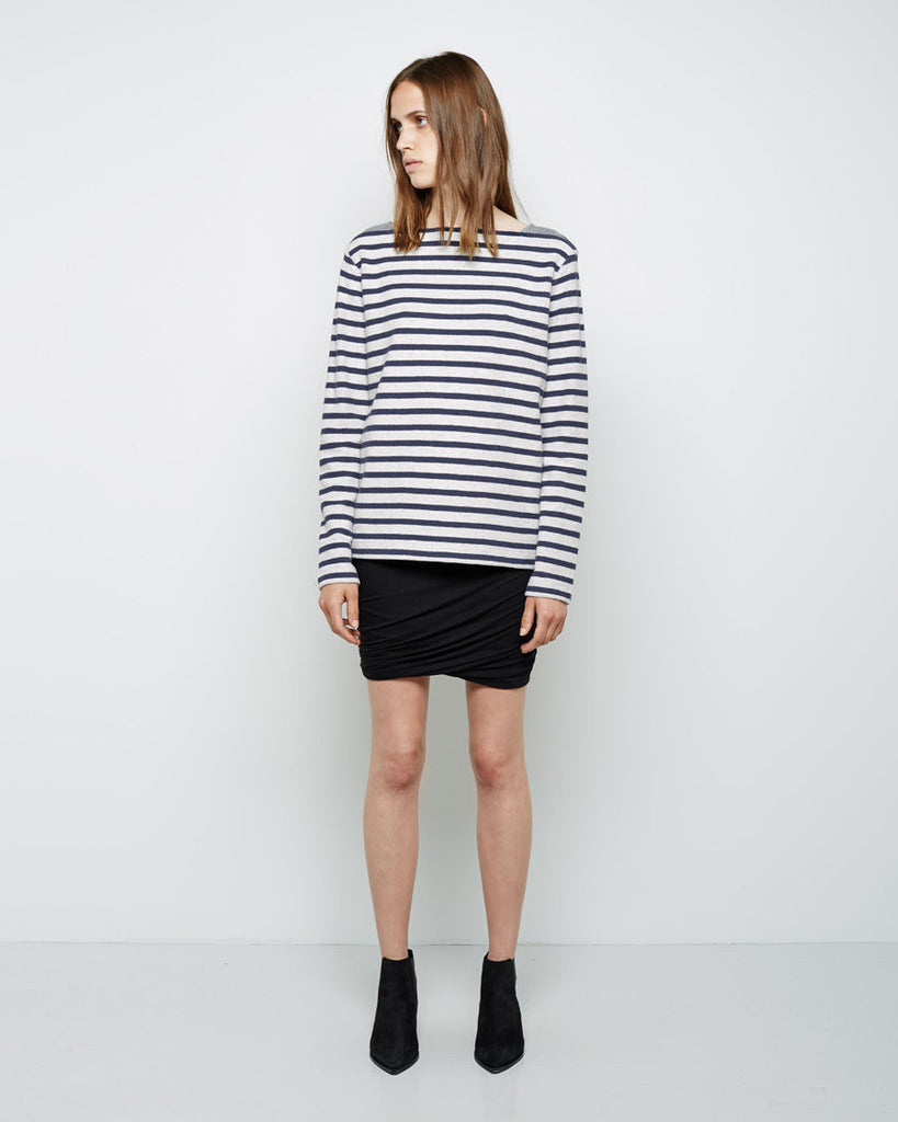 Striped French Terry Sweatshirt