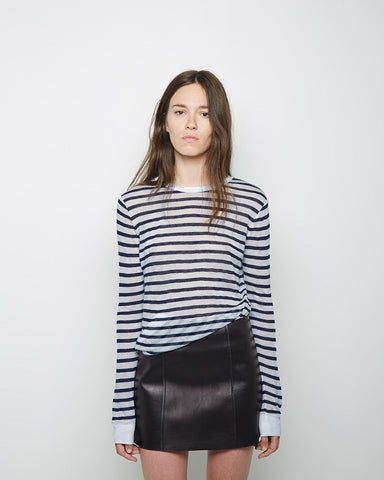 Striped Rayon Linen Longsleeve