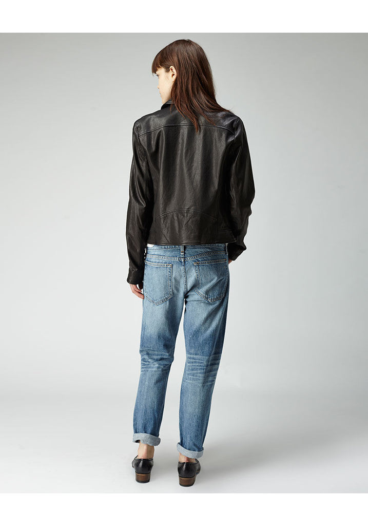 Washed Leather Bomber