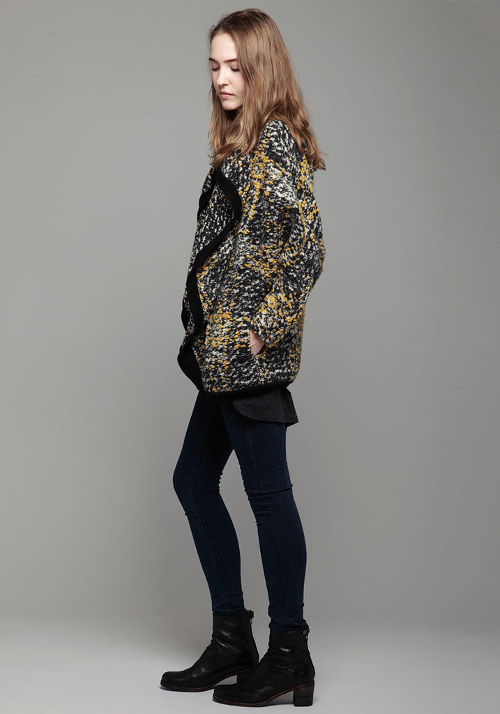 Draped Double Layer Cardi