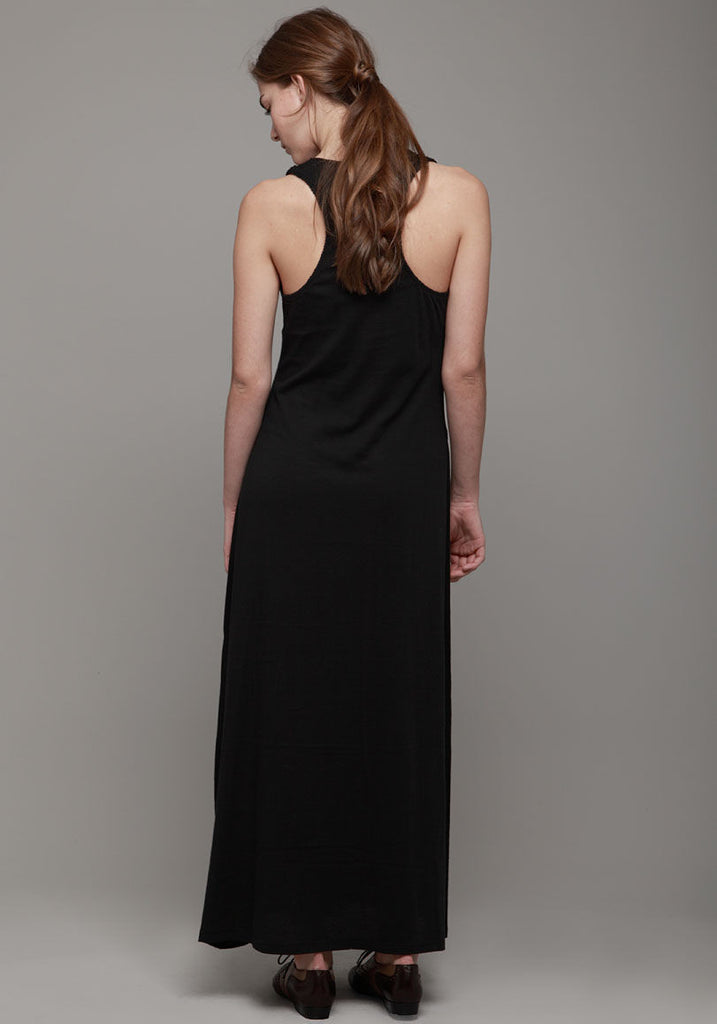 Jersey Seamed Pocket Gown