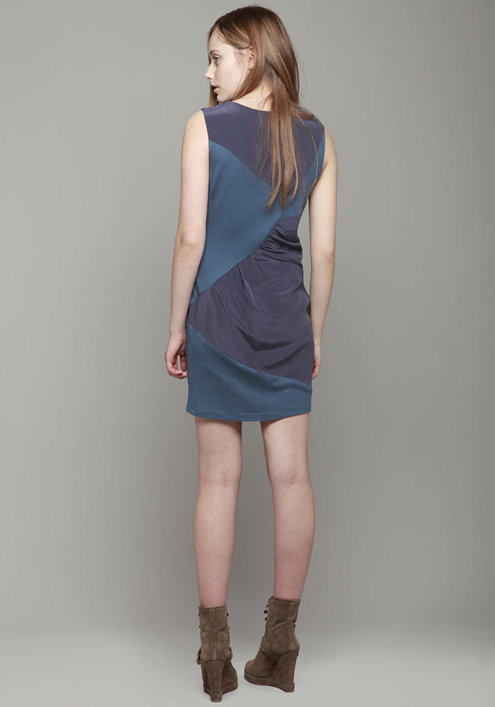Patchwork Draped Dress