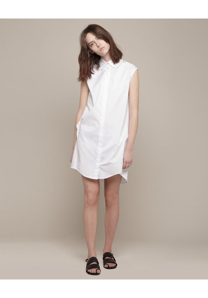 Drape Back Shirtdress