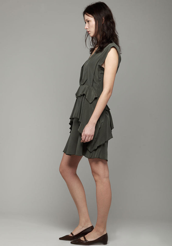 Draped Ruffle Dress
