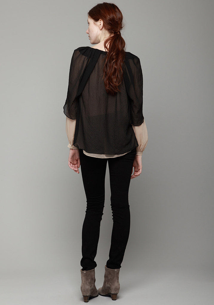 Draped Wing Blouse