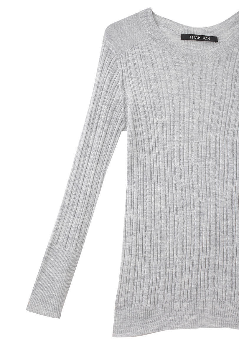 Ribbed Crewneck Pullover