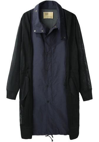 Chambray Taffeta Coat