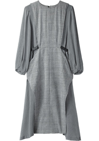 Check Wool Dress