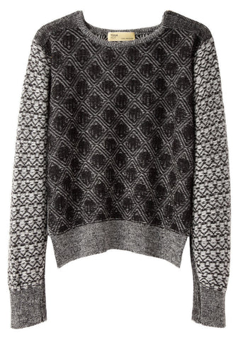 Cropped Jacquard Knit
